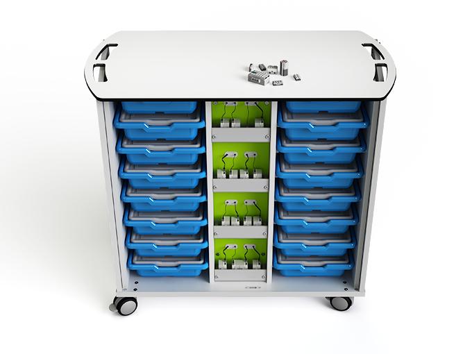 LEGO WeDo 2.0 zioxi charging cart with doors open